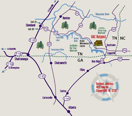 Ocoee River Map & Directions