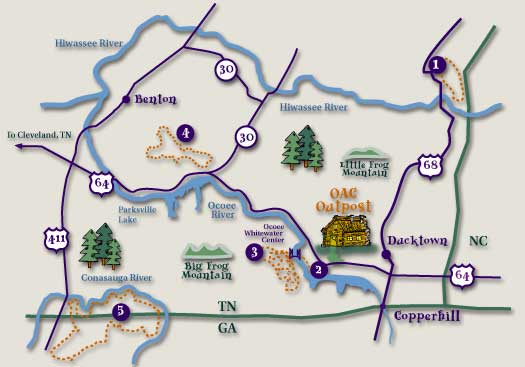 Ocoee River Area Bike Trails