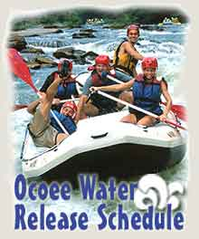 Ocoee White Water Rafting Schedule