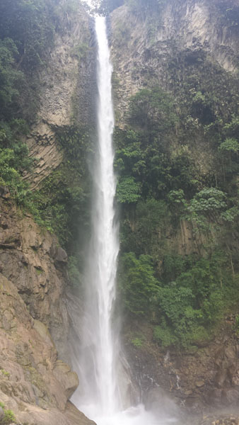 Waterfall near Banos Ecuador