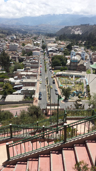 Overlooking the town of Guano Ecuador