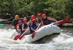 Middle Ocoee River rafting