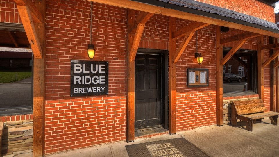 Blue Ridge Brewery store front and sign