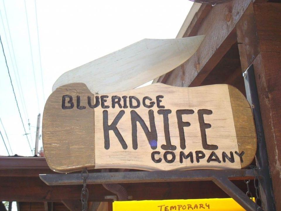 Blue Ridge Knife Company sign