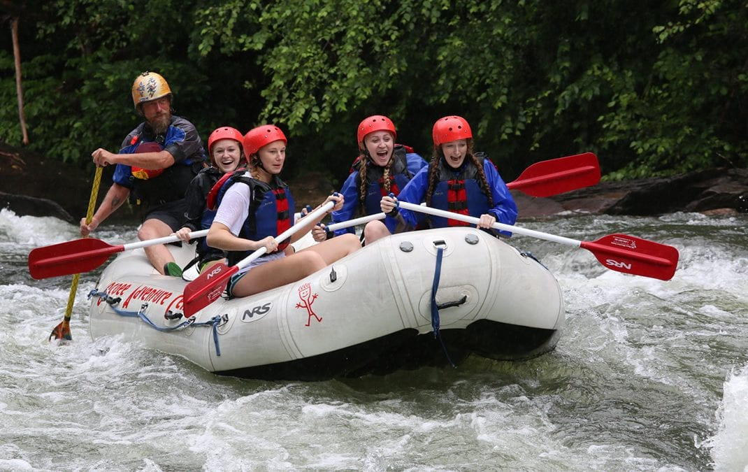 Rafting the Ocoee River in Tennessee