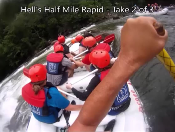 Rafting Hell's Half Mile with Ocoee Adventure Center