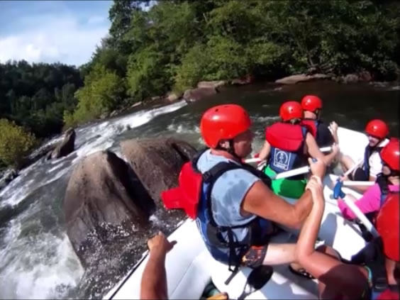 Rafting Moon Chute on the Middle Ocoee in Tennessee