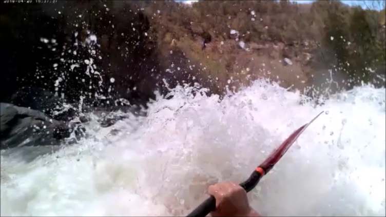 Kayaking Tablesaw on the Ocoee River in Tennessee