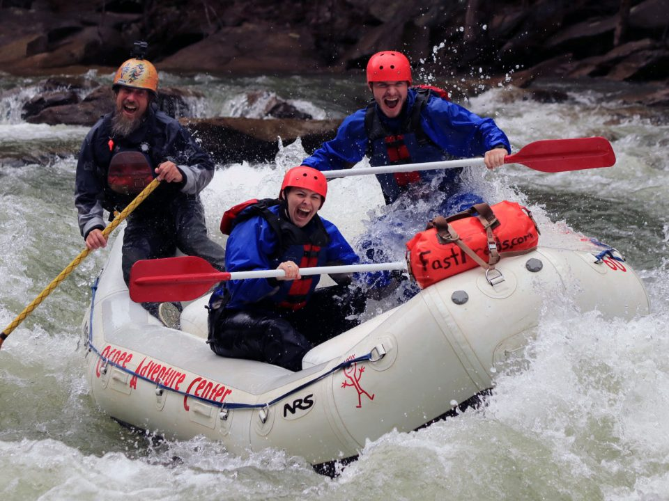Rafting the Ocoee River during April.