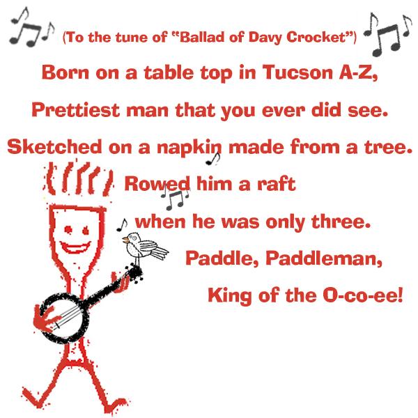 Paddleman playing banjo and singing